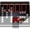 95mm S.Segmend 4Digit Merkezi Led Saat Derece Nem Tarih Kronometre Led Sayici Led Kronometre Gostergesi