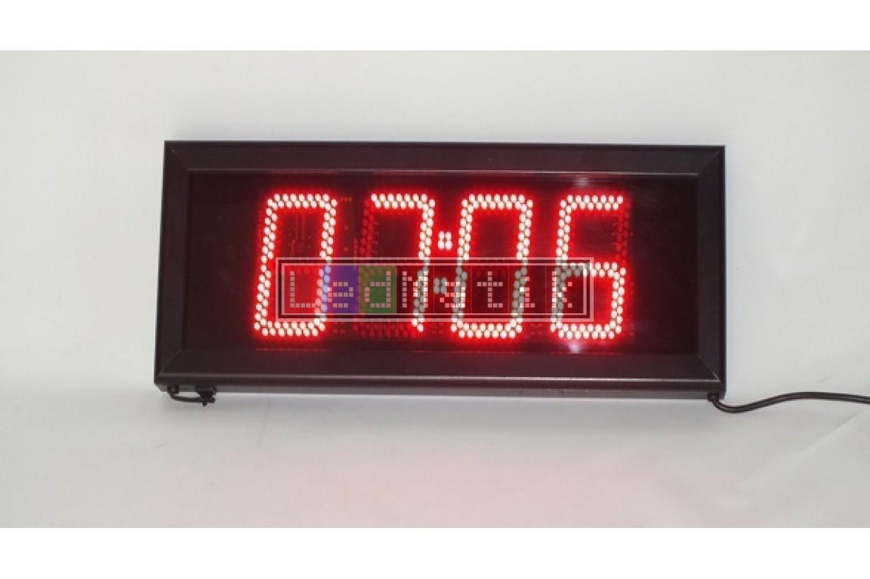 13cm S.Segmend 4Digit Merkezi Led Saat Derece Nem Tarih Kronometre Led Sayici Led Kronometre Gostergesi