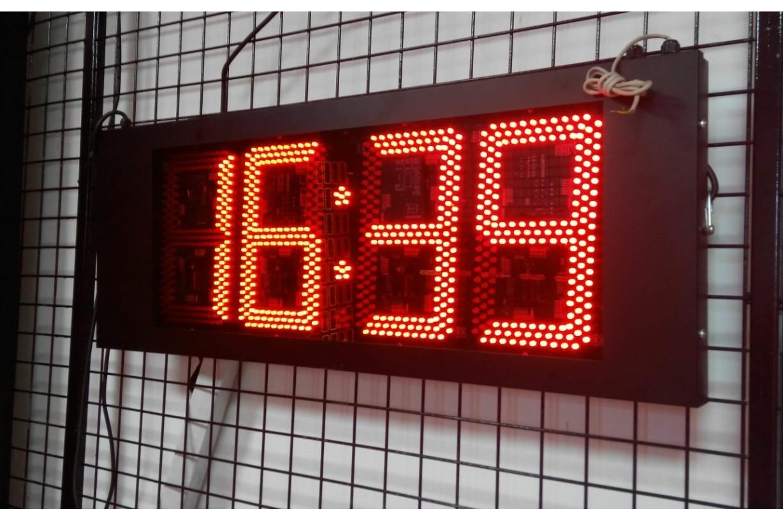 24cm S.Segmend 4Digit Merkezi Led Saat Derece Nem Tarih Kronometre Led Sayici Led Kronometre Gostergesi