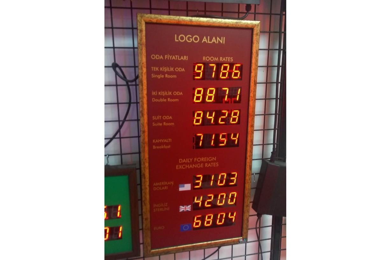 Fiyat Panosu Otel fiyat Panosu Benzin Fiyat Göstergesi