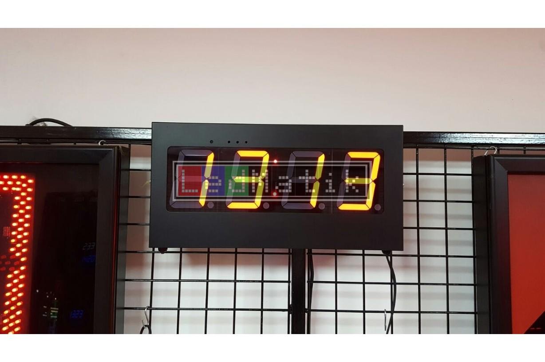 101mm S.Segmend 4Digit Merkezi Led Saat Derece Nem Tarih Kronometre Led Sayici Led Kronometre Gostergesi