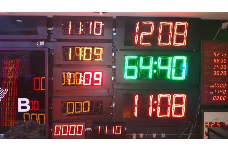 30Cm S.Segmend 4Digit Merkezi Led Saat Derece Nem Tarih Kronometre Led Sayici Led Kronometre Gostergesi